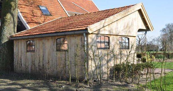Kapschuur eiken tuinhuis terrasoverkapping overkapping tuinen pinterest - Moderne woning buiten lay outs ...