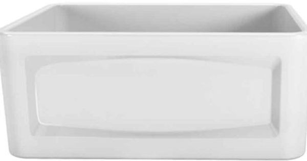24 Inch Farmhouse Sink : 546 Porcher 35010-24.001 24-Inch Single Bowl Farm Sink, White ...