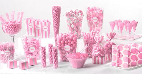 Light Pink Candy Buffet We Can Get This Stuff At Party
