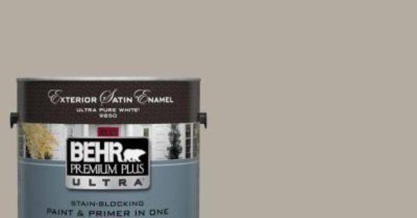 Behr Premium Plus Ultra 1 Gal Ul260 8 Perfect Taupe Satin Enamel Exterior Paint Exterior