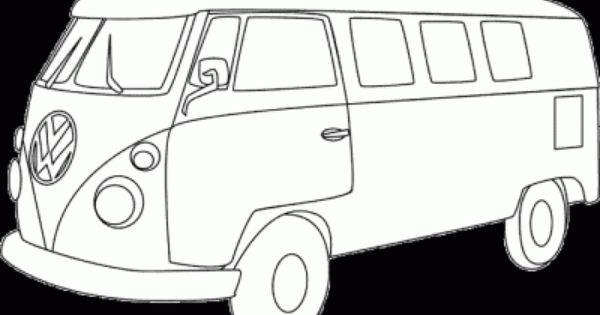 vw van coloring page  volkswagen bus printable coloring sheet