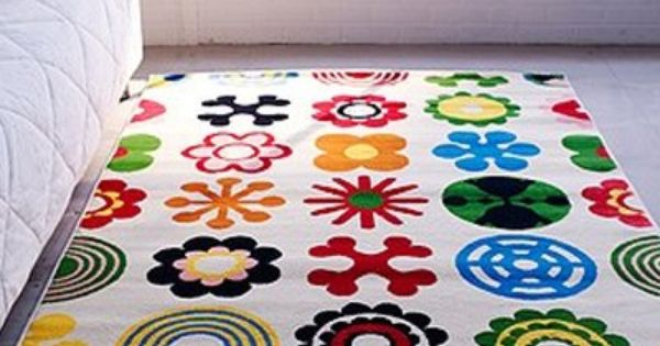 Modern Classroom Rug : Ikea lusy blom rug low pile modern carpet buy new