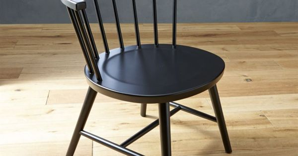 vienna black wood dining chair vienna crate and barrel. Black Bedroom Furniture Sets. Home Design Ideas