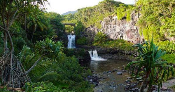 Ohe O Gulch Maui Aka Seven Sacred Pools Breathtaking Hawaii Waterfalls Seven Sacred Pools Maui Scenic Lakes