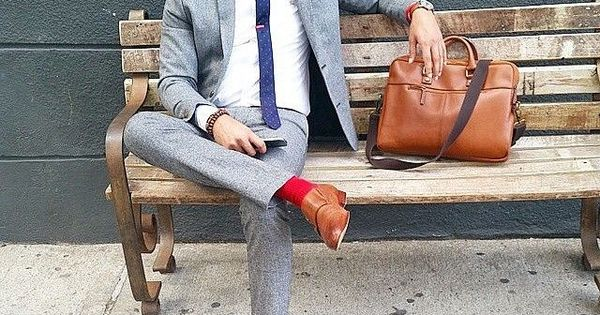 A grey wool sportcoat and grey wool dress pants will showcase your