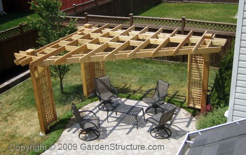 Three Post Pergola For The Home Pinterest Decks Backyards And Sean Murray