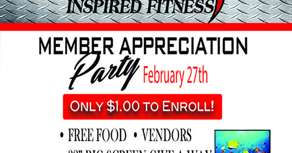 Kinetix Inspired Fitness In Pinellas Park Wants To Thank All Our Members For Their Continued Support All Friends And Family Free Food All Friends Appreciation