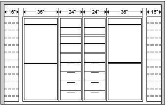 Closet Built In Dimensions Standard Google Search Muebles Para Colgar Ropa Colgar Ropa Madera Rustica