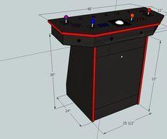 4 Player Pedestal Arcade Cabinet For Mame Arcade Cabinet Diy Arcade Cabinet Arcade Room
