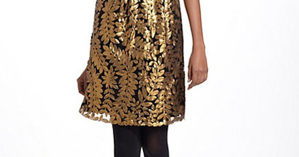 Goldleaf Cocktail Dress anthropologie-great holiday dress!