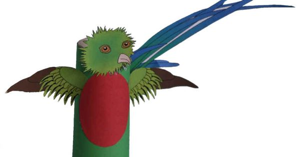 Quetzal Toilet Paper Roll Craft--Aztec And Mayan Loved The