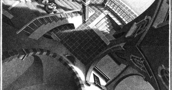 M. C. Escher. High and Low (1947)