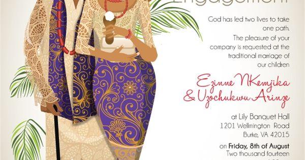 Igbo Traditional Wedding Invitation Cards: NIGERIAN IGBO TRADITIONAL WEDDING INVITATION