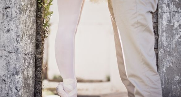 Ballerina engagement picture
