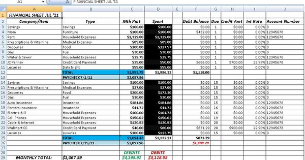 Free Accounting and Bookkeeping Excel Spreadsheet Template ...