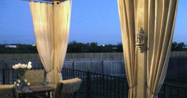 No Sew Canvas Drop Cloth Outdoor Curtains I Can 39 T Wait To Do This Diy Pinterest Canvas