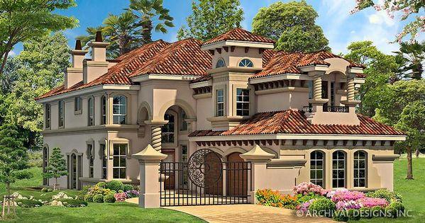 Rhodes Ranch Deux House Plan Mediterranean House Plans Luxury House Plans Luxury Plan