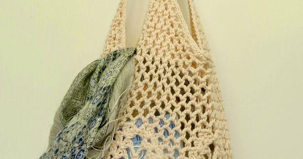 Pattern:: Pineapple Crochet Market Bag - Chart & Translation Crochet ...