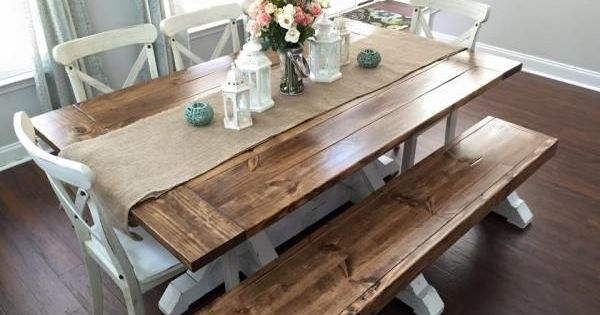 Farmhouse Table & Bench Do It Yourself Home Projects from Ana White