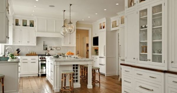 Kitchen designed by Crisp Architects. This classic white kitchen has a timeless