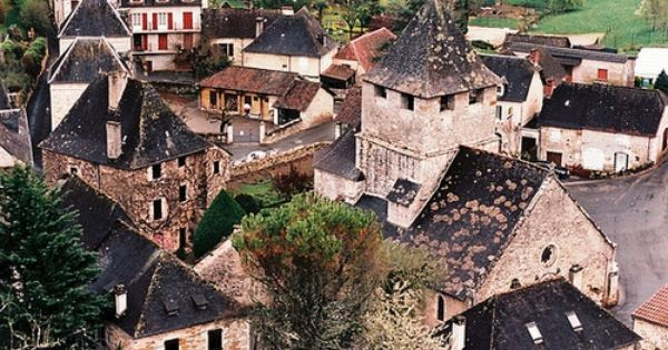 Sarrazac, France. fairy tale village