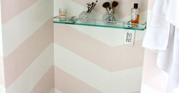 pink chevron walls ♕