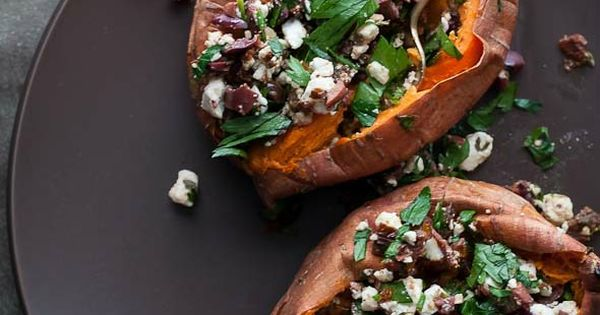 Check out Baked Sweet Potatoes Stuffed with Feta, Olives ...