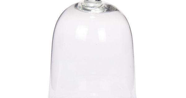 Cloche en verre avec petit oiseau Nostalgie - Vases, coupes et cloches ...