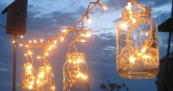 Western Wedding Centerpieces In Mason Jars Twinkle Lights In Mason Jars Craft Ideas