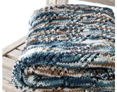Variegated Caron Jumbo Yarn Brings Color And Texture To