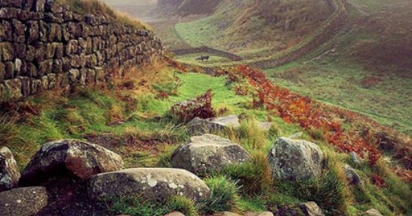 Autumn at Hadrian's Wall, on the English/Scottish border. Talked about this place