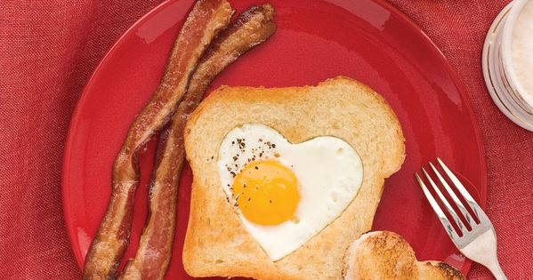 valentine. breakfast. Egg in basket. Heart. Cookie. Cutter. Easy. Fast. Sweet. Fun.
