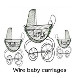Wire Baby Stroller Carriages Baby Shower Cakes Wire Mannequin