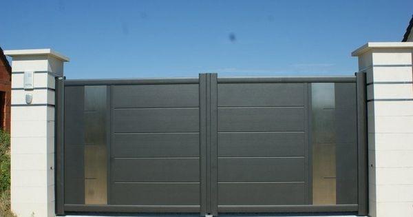 Portail coulissant en aluminium equinox c sib portail for Portail coulissante exterieur