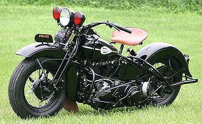 1945 Harley Davidson Knuckelhead Police Harley Davidson