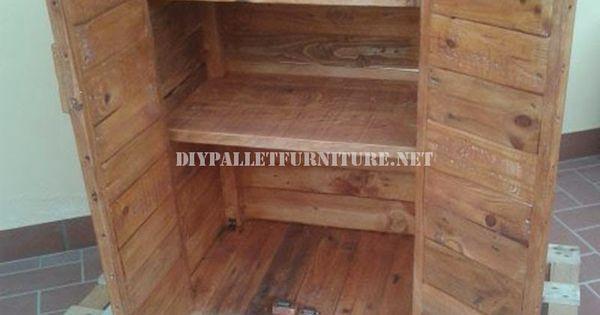 M s de 60 ejemplos de muebles hechos con palets palets - Armarios hechos con palets ...