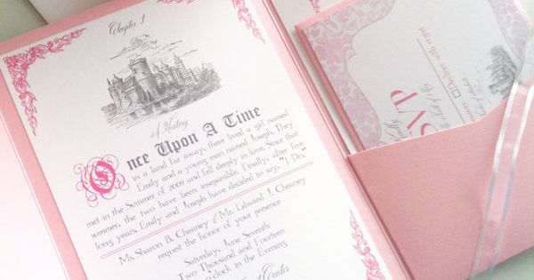 Fairytale Wedding Invitation Suite by AbbieLeeDesigns on Etsy
