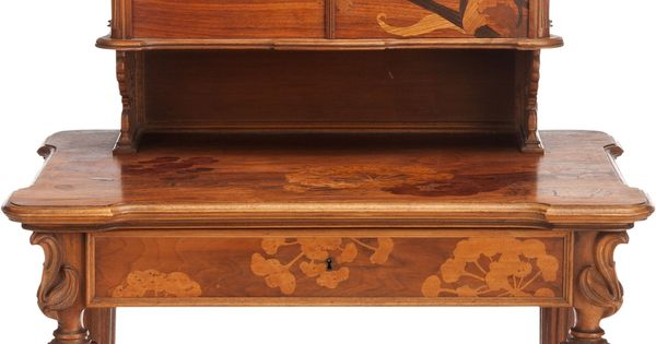 Emile gall 1846 1904 nancy mahogany with fruit for Muebles antiguos las palmas