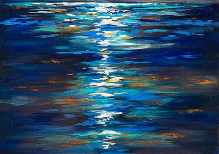 .inspiration. BREATHTAKING. Vibrant colors. UGH! SO great. Dusk on the Ocean -