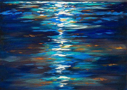 .inspiration. BREATHTAKING. Vibrant colors. UGH! SO great. Dusk on the Ocean -
