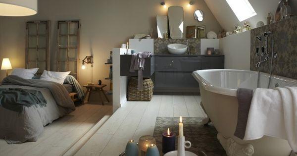 Diaporama osez la salle de bains sous les toits suite for Mini suite parentale
