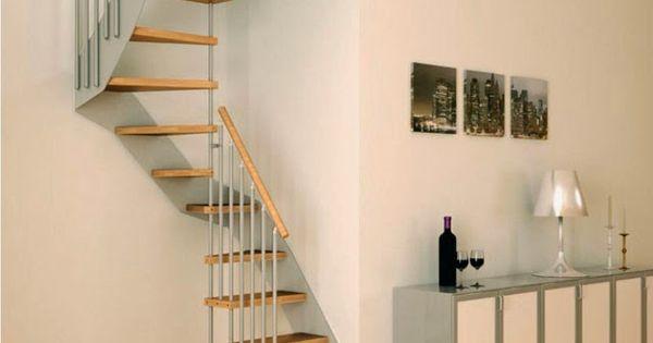 Escaleras para poco espacio ideas para el hogar pinterest - Escaleras poco espacio ...