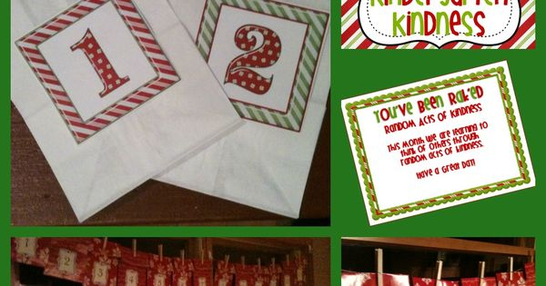 Random Acts of Christmas Kindness: Ideas for classroom and kids at home