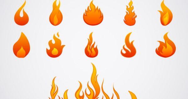Vector Flame Design Elements Ai Eps Pinterest Design
