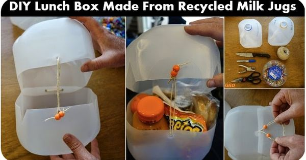 Diy Lunch Box Made From Recycled Milk Jugs Goods Home