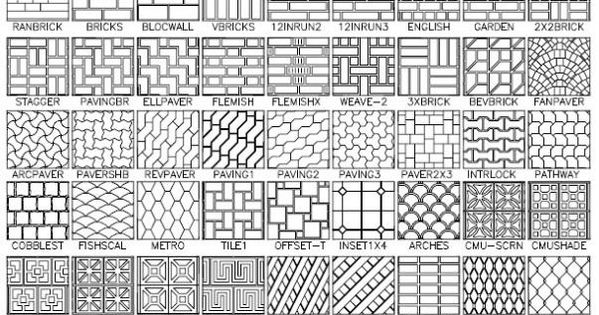 Autocad Hatch Patterns 100 Plus Hatch Patterns Path In