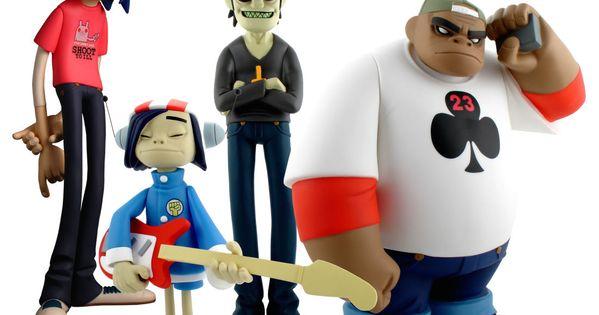 Gorillaz Black Edition Figures Geek Toys Pinterest