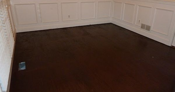 How to stain a subfloor, but make it look like a hardwood