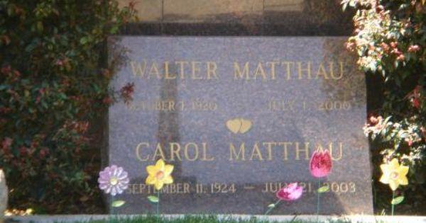 Walter Matthau Westwood Village Memorial Park Cemetery Los Angeles Ca Walter Matthau Memorial Park Westwood Village