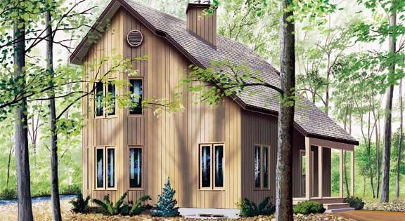 Narrow Lot Saltbox House Plan 65232 Main Level Entry